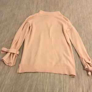 Pink Sweater with Wrist Details